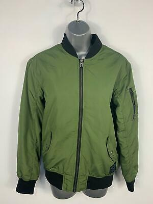 Girls H&M Khaki Green Light Weight Casual Bomber Jacket Coat Kids Age 12/13 Year