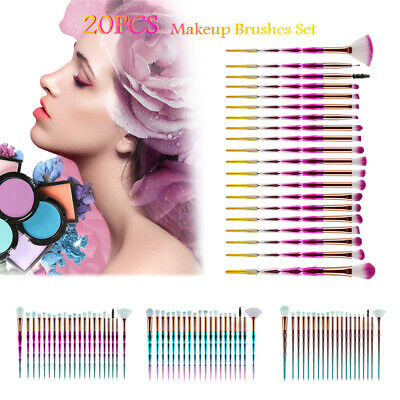 20PCS Pro Makeup Brushes Set Face Powder Eye Shadow Brush Foundation Blush