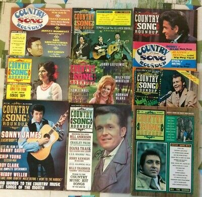 Country Song Roundup Magazine Lot Of 10 1971-73 Dottie West Johnny Cash