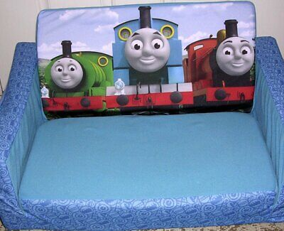 Thomas The Train & Friends Childrens 2 in 1 Flip Open Sofa Marshmallow Furniture