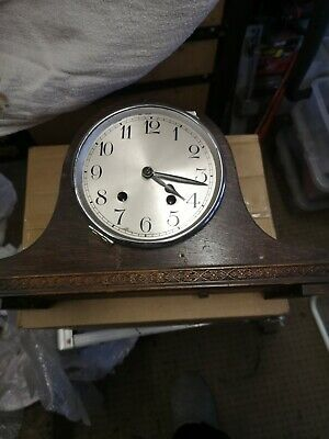antique wooden chiming clock carriage / mantle clock