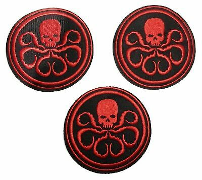 100x Comics Captain Movie Red Hydra Logo Embroidered Iron on Patch Applique