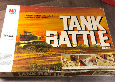 Tank Battle Board Game By M B Games Vintage Dated 1976