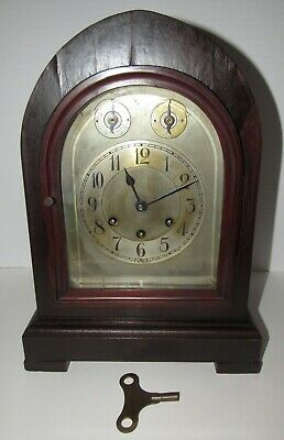 Antique Gustav Becker P18 Medaille D'or Quarter Hour Chime Bracket Clock 8 Day