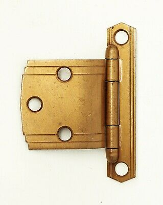 Art Deco Copper Finish 2.75 x 2 Offset Cabinet Hinge