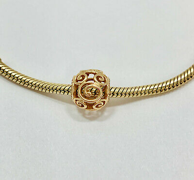 Authentic Pandora Disney Parks Mickey Mouse Open Charm Bead 14k Yellow Gold