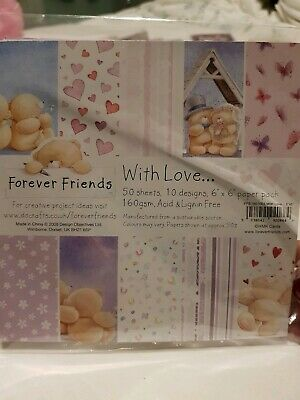 Forever Friends With Love Craft paper pad 6 x 6