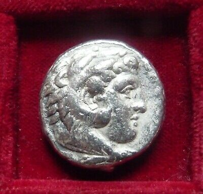 ALEXANDER III the GREAT AR tetradrachm Salamis mint 336-332 BC.Lifetime issue