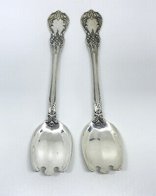 LOT OF 2- TOWLE SILVER Ice Cream Fork in Old Master Pattern (Sterling,1942)
