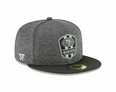 San Francisco 49ers New Era 2018 NFL Sideline Road Black 59FIFTY Fitted Hat