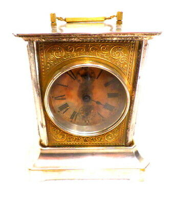 German Carriage Clock Circa 1910 With Musical Alarm