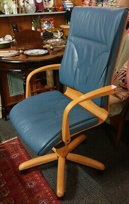 Bentwood Danish Style Swivel Office Chair