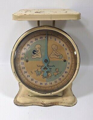 Vintage Baby Scale Cream Works