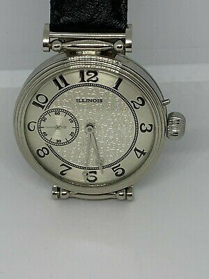 Illinois Grade A Lincoln 21j  pocket watch custom conversion to wristwatch