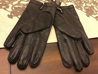 Fownes Brothers Genuine Leather Mens Gloves w/ Cashmere Blend Lining! Size M, L