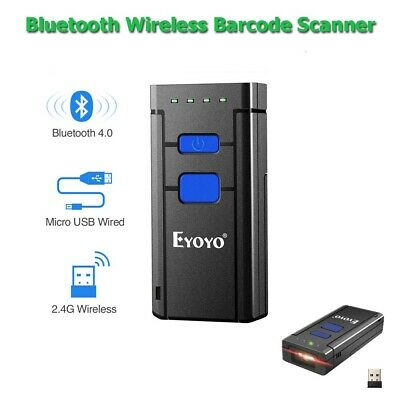 Wireless Bluetooth Barcode Scanner Reader For Apple IOS Android Win10 Win7/8 xp
