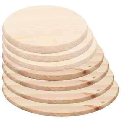 vidaXL Table Top Natural Pinewood Round Replacement Part Accessory Multi Sizes