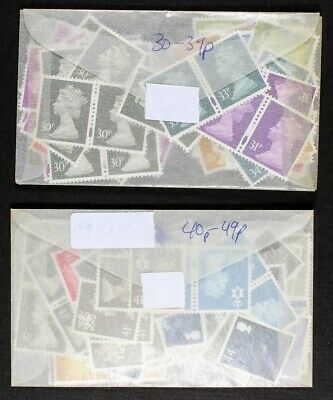 GB Discount Mint Postage, 30p to 49p. Face £78.64. List of values in description