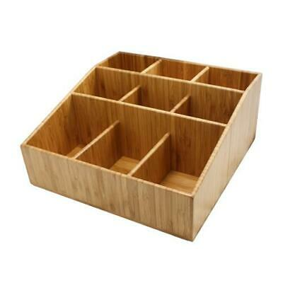 Cal-Mil - 1714 - 9 Section Bamboo Coffee Organizer