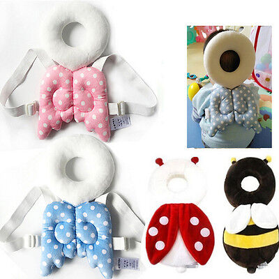 Baby Kids Head Protection Pillow Pad Toddler Head Back Care Cute Resistance n HO