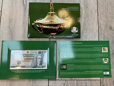 2014 The Ryder Cup Commemorative Banknote Scottish £5 Mint Pack Uncirculated