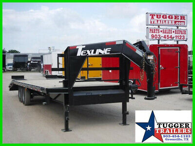 102X25 25Ft Gooseneck Utility Equipment Deck Over Flatbed Heavy Duty Trailer