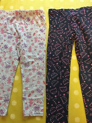 Girls Peppa Pig  And Cats Leggings 3-4 Y 4-5 Y