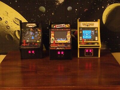 My Arcade Micro Player Lot Pac-Man Galaga Dig Dug Mini Arcade Machines Excellent