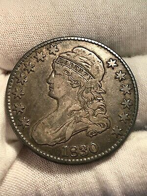 💥 1830 Capped Bust Half Dollar Lettered Edge - HIGH GRADE -FREE SHIPPING (f8)