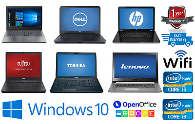 FAST CHEAP INTEL CORE i3 i5 i7 LAPTOP WINDOWS 7/10 250GB/320GB HDD 4GB RAM WiFi