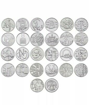 2018 Uncirculated Royal Mint Alphabet A to Z Full Set Of New 10p Ten Pence Coins
