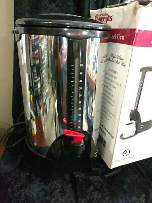 Ssu50 Stainless Steel 50 Cup Commercial Coffee Urn Classic Coffee Concepts