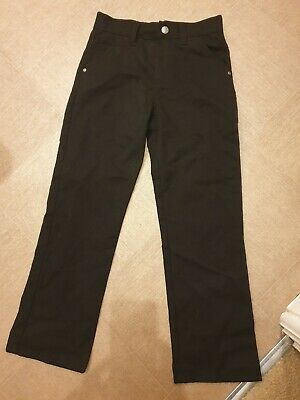 Next Boys Black Slim Fit Trousers, Age 9 Years