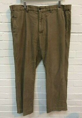 "Mens Marks & Spencer Natural Brown Corduroy Trousers Size 40"" L29"" #R19-CF"