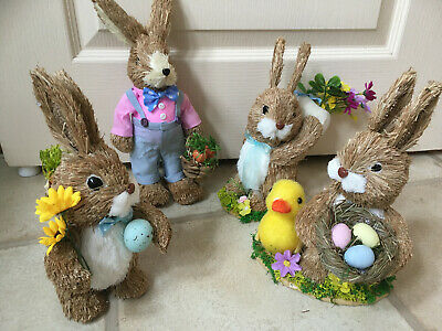Easter Decorations - Easter Bunny Rabbit Duck Eggs Flowers Spring Duckling Props
