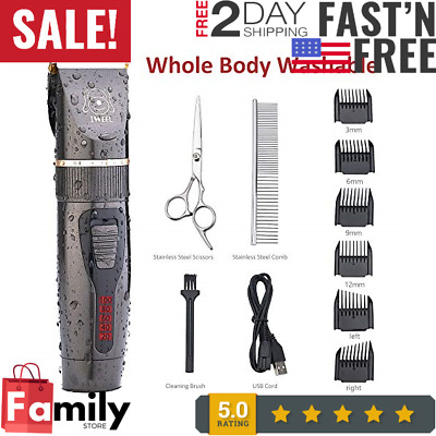 Pet Clippers Professional Heavy Duty Trimmer Thick Hair Dog Grooming Kit Fr