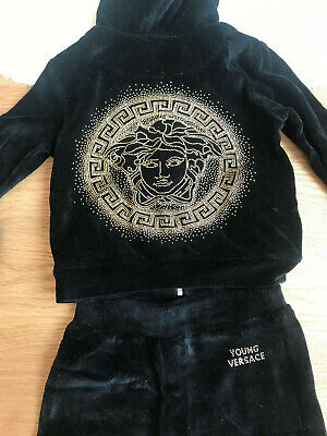 Auth young versace girls tracksuit 4 years medusa detail