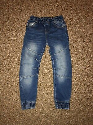 Boys Size 6-7 Years Jeans F&F Pull On Soft Comfy Cuffed Jogger Jeans