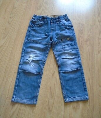Primark Boys Blue Distressed Jeans Age 4-5 Years
