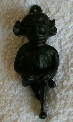 VINTAGE ANTIQUE SOLID METAL DOOR KNOCKER - LINCOLN IMP gothic appeal
