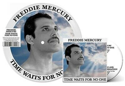 """QUEEN Freddy Mercury Time Waits For No One 7"""" Vinyl Picture Disc & CD Rare"""