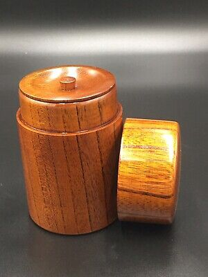 Japanese TEA CADDY Wooden Natsume Chaire Container Tea Tall 12 cm