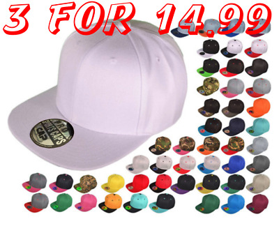 Snapback Hat Two Tone One Size New  Blank SNAPBACK
