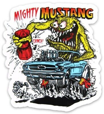 Rat Fink MAGNET Muscle Car Vintage Ford Mighty Mustang Classic Hot Rod Ford