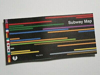 Official New York City MTA NYC Subway Map 2019 Newest International Edition