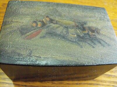 antique hand painted troika russian box