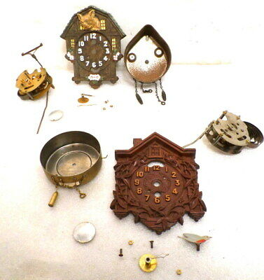 2 Lux Cuckoo Wall Clocks Including Bull Dog Model-- Parts or Repair