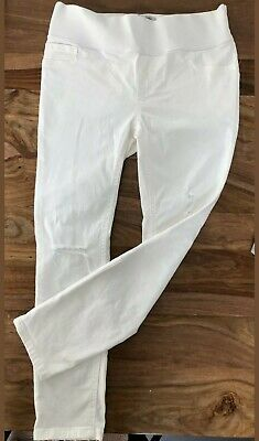 White Skinny Fit Maternity Jeans, Size 10