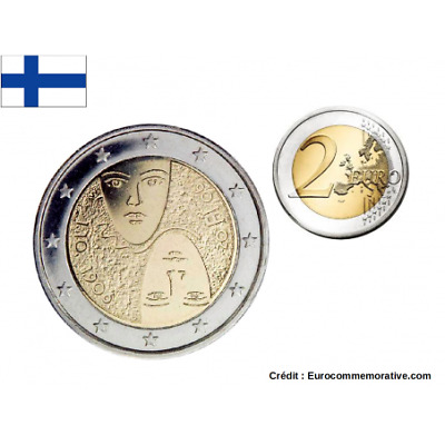 2 Euros Commémorative Finlande 2006 '' Suffrage Universel ''