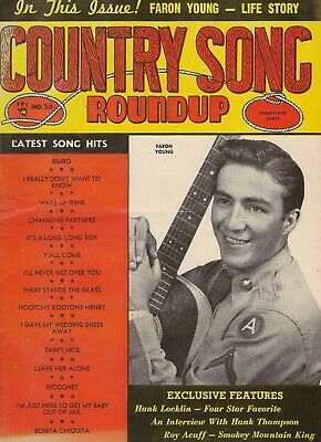 "1954 ""Country Song Roundup"" #30 Music Magazine - Faron Young, Roy Acuff"